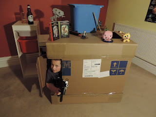 cardboard shipping box castle