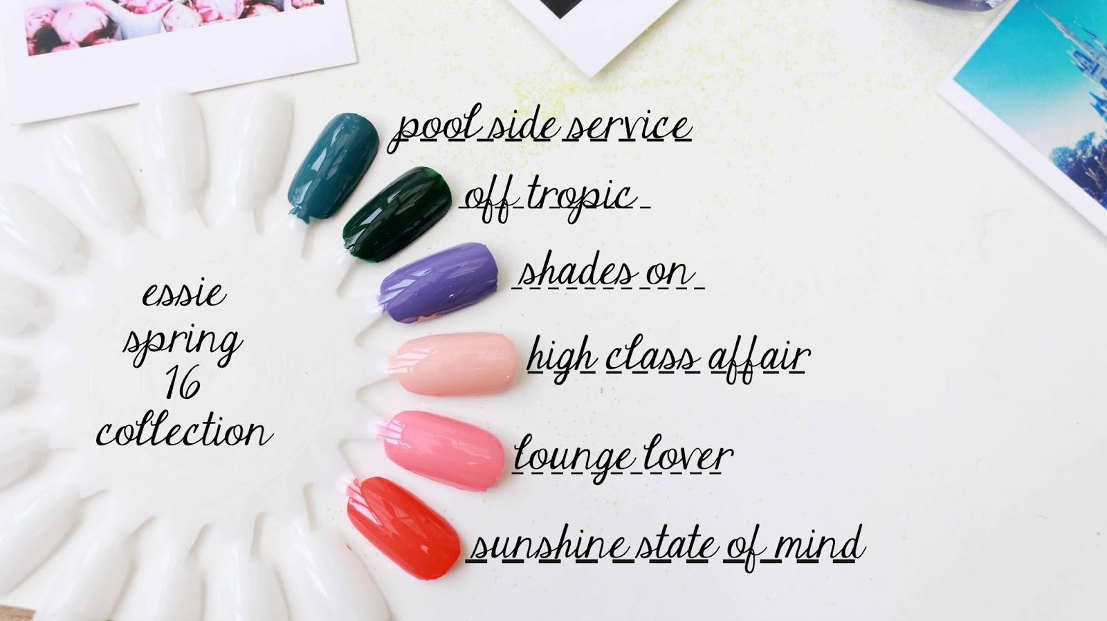 Beauty, Nail Polish, Essie, Essie Spring 2016, Essie Spring 2016 Swatches, spring nail polish, Spring Beauty, Drugstore,