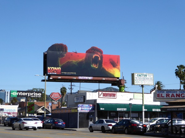Kong cut-out extension billboard