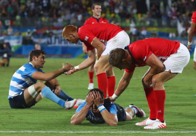 Cuando Gran Bretaña eliminó a Argentina en Rugby