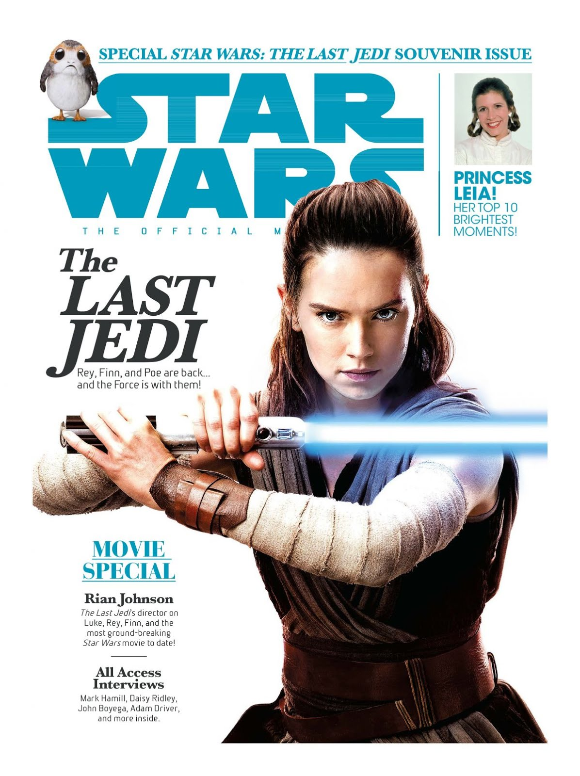 Daisy Ridley In Star Wars Insider January February 2018 issue