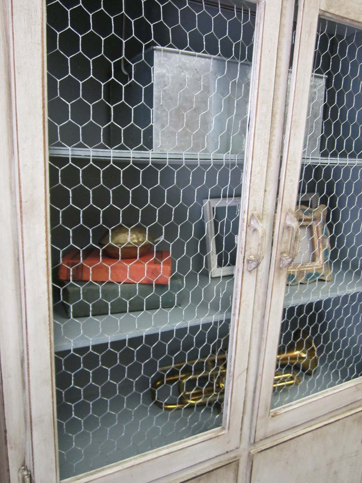Vintage Finds Chicken Wire Cabinet