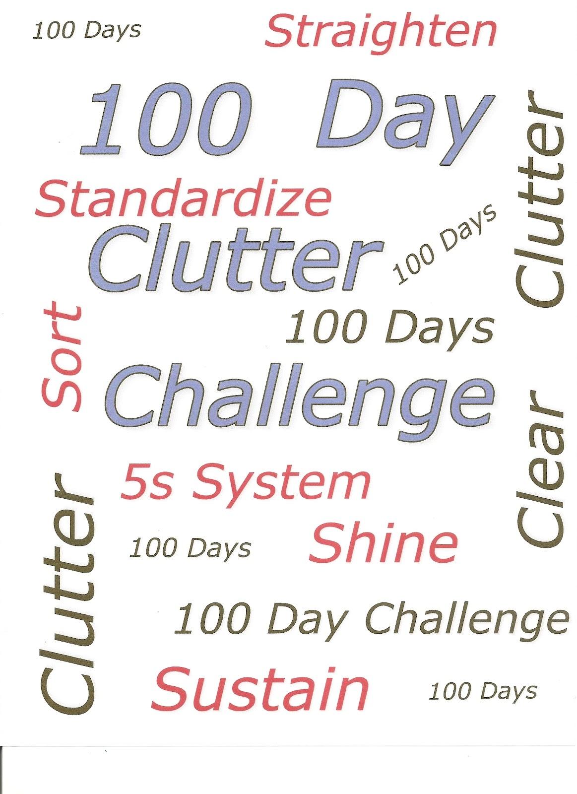 100 Day Clutter Challenge 100 Day Clutter Challenge