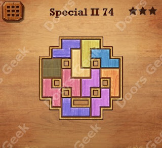 Cheats, Solutions, Walkthrough for Wood Block Puzzle Special II Level 74