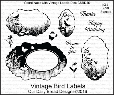 Our Daily Bread Designs Stamp Set: Vintage Bird Labels