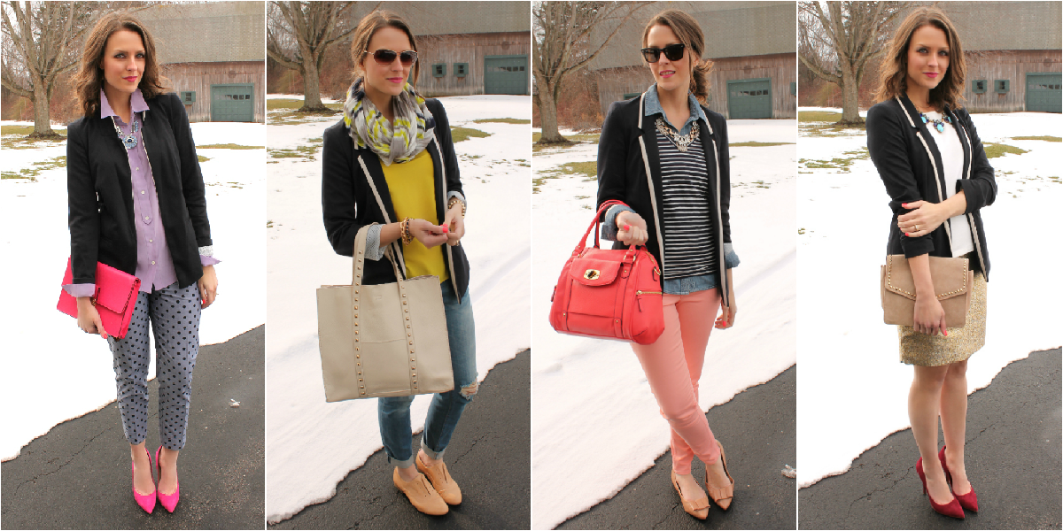 d505ffbcdfb 4 Ways to Wear  Tipped Blazer - Penny Pincher Fashion