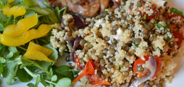 Tomato and Lentil Couscous Salad