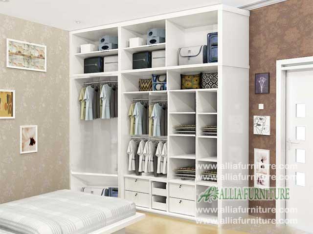 lemari baju minimalis 3 pintu unit swiss