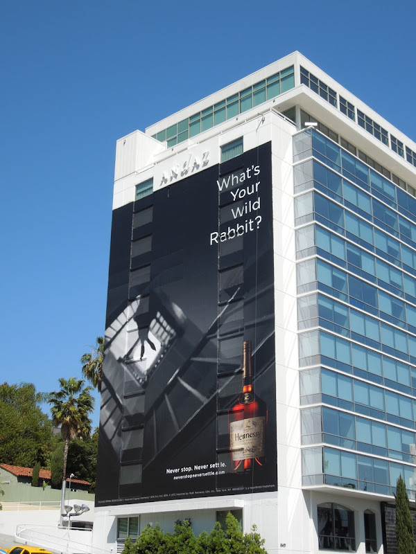 Giant Hennessy Wild Rabbit billboard