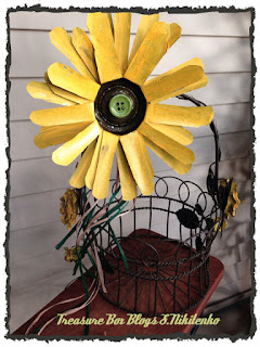 Sunflower Garden Stakes   Made From Pop Cans