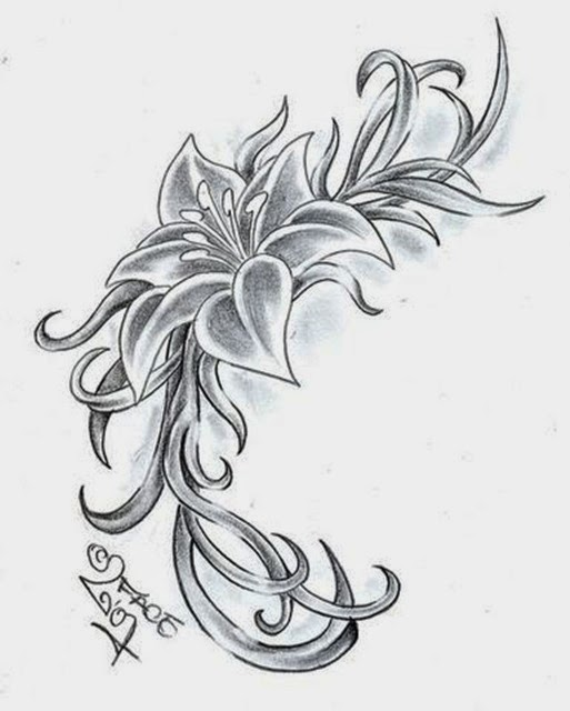 Flowers Sketches Designs Drawing