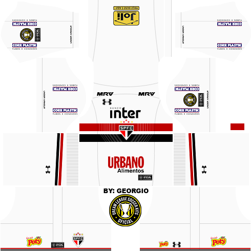 8ddcf96019 Dream League Soccer Kits  São Paulo (Completo) 17 18 - DLS17   FTS ...