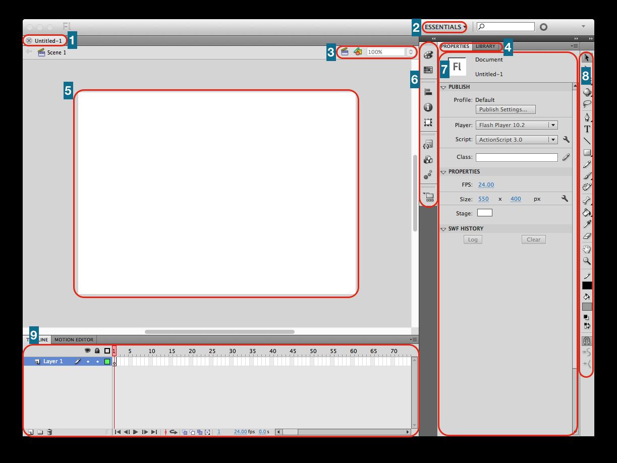 Okky Dian Pradika Prak 1 Mengenal Tampilan Adobe Flash