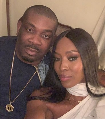 Naomi Campbell and Don jazzy