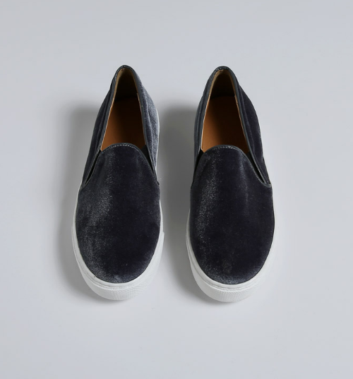 Velvet Slip-On Sneakers