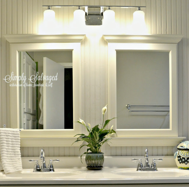 Floor To Ceiling Beadboard In Bathroom: Simply Salvaged: Beadboard And Built-ins- Master Bathroom