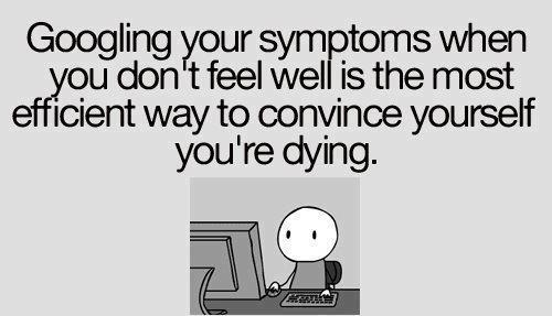 Google Your Sickness Funny Facebook Quote