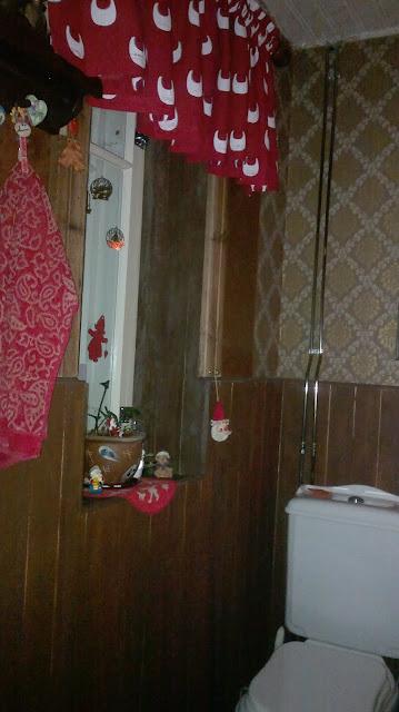 wc jouluverho joulutunnelma