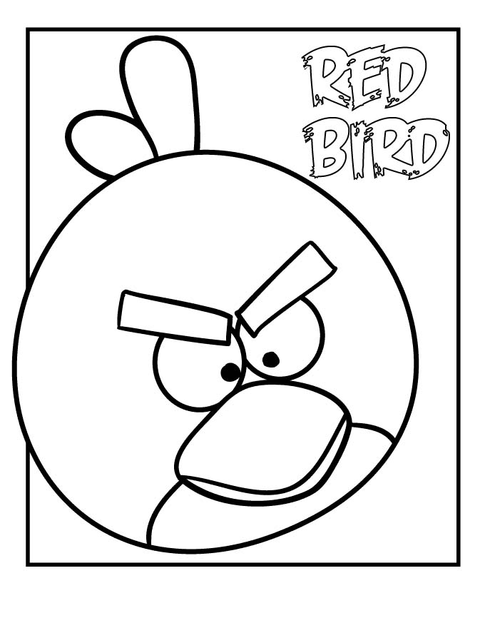 Print And Coloring Page Angry Birds For Kids | Print And ...