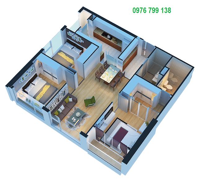 Căn hộ 95 m2 dự án Eco Green City