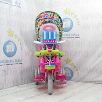 Sepeda Roda Tiga Royal RY8788CJ Magician Musik Dobel Kanopi Jok Kain Ayunan