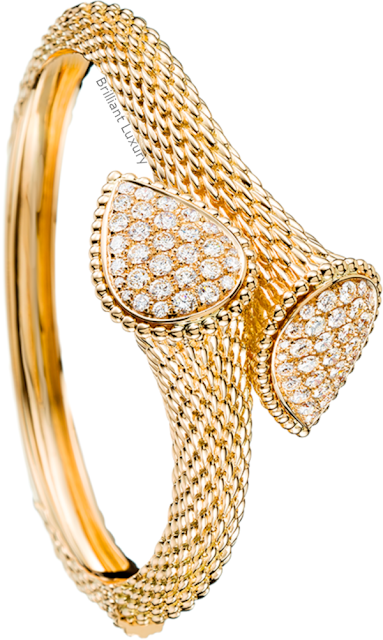 Brilliant Luxury♦Boucheron Paris Serpent Bohème bangle bracelet
