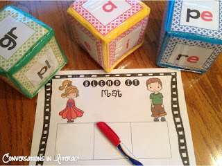 Blends and Digraphs Activities for centers and RTI