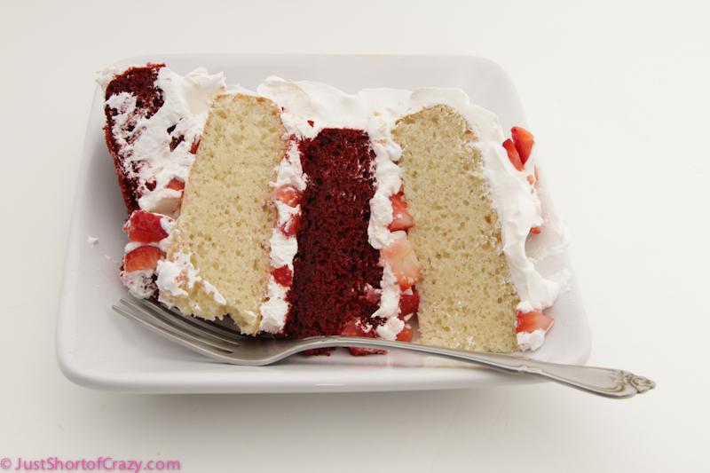 Layered Vanilla Cake Recipes: Red Velvet, Vanilla, Strawberry Layer Cake {Recipe}