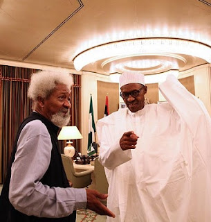 What Soyinka, Buhari Discussed Today Behind Closed-door