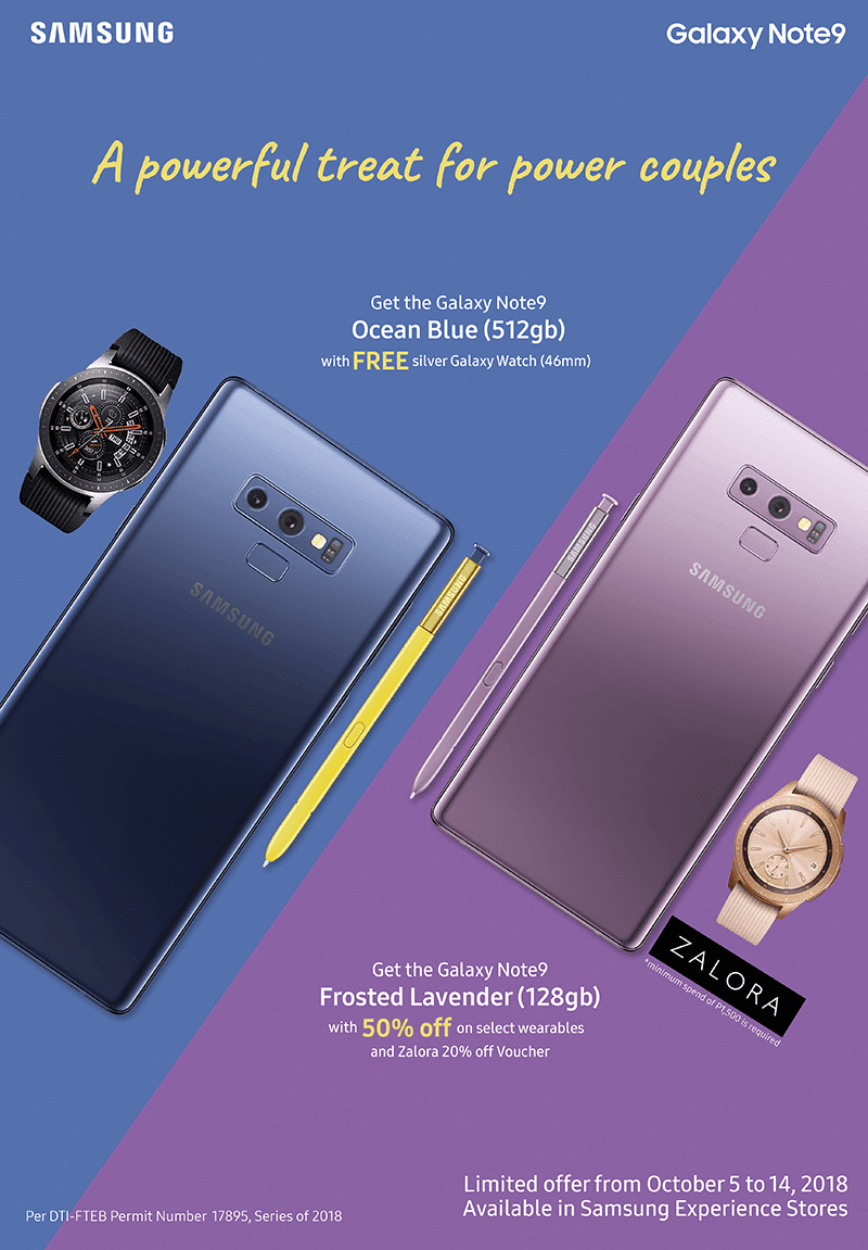 Get a FREE Samsung Galaxy Watch when you buy a Note9 from October 5 to 14!