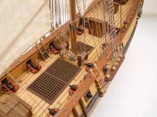 cubierta de velero bergantin goleta