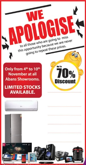 AI: Abans Special Offer Unbelievable Discount Up-to 70%