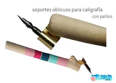 Cómo hacer soportes oblicuos para caligrafía con palitos