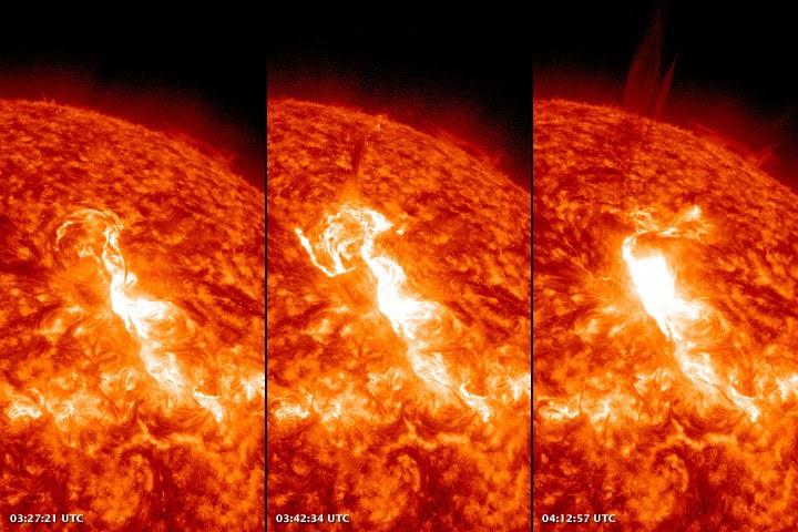 Strongest solar flare since 2005 hitting Earth - NY Daily News  |2005 Solar Flare