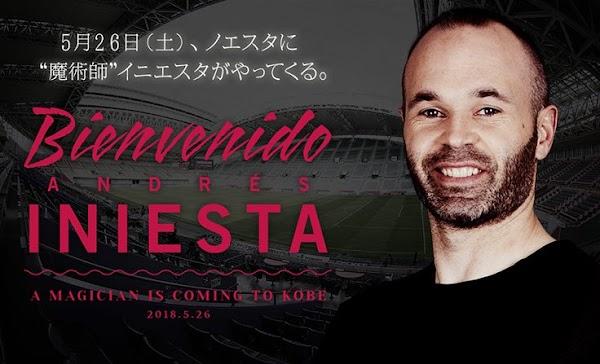 Oficial: El Vissel Kobe ficha a Iniesta
