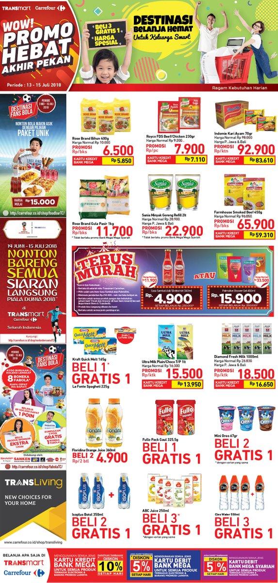 Carrefour - Katalog Promo Akhir Pekan Periode 13 - 15 Juli 2018