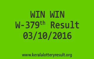 WIN WIN W 379 Lottery Results 3-10-2016