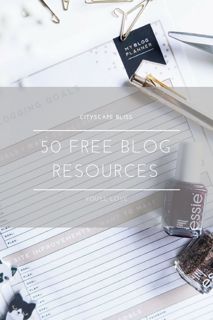 50 FREE blog resources you'll love!