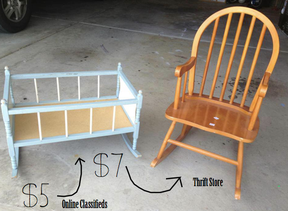 do it yourself divas: DIY Refinishing Baby Doll Cradle and ...