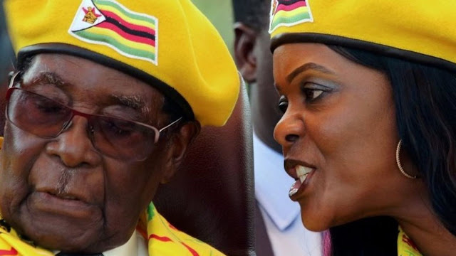 President Mugabe was accused of preparing the presidency for his wife Grace