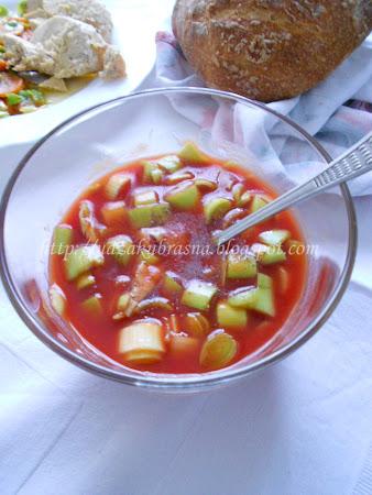 Salata od praziluka i soka od paradajza