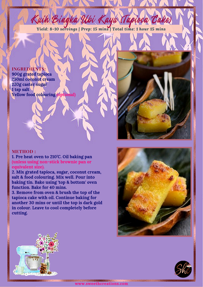 KUIH BINGKA UBI KAYU (TAPIOCA CAKE) RECIPE