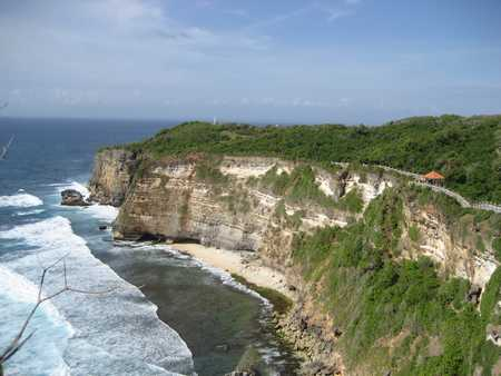 Beautiful cliffs in the area of ​​Uluwatu Temple