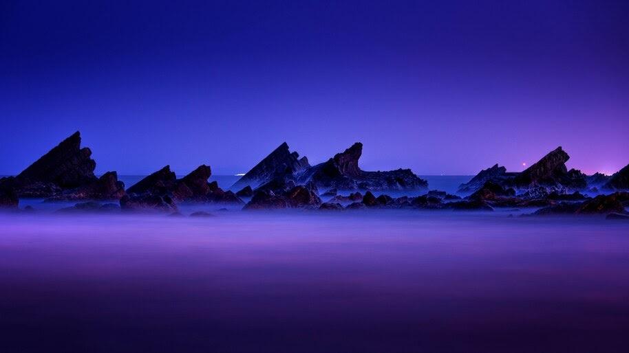 Night, Sky, Scenery, 4K, #4.2313