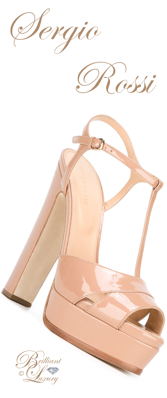 Brilliant Luxury ♦ Sergio Rossi Platform Sandals