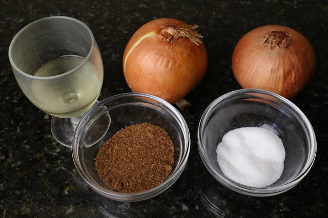 Ingredientes para cebolla caramelizada