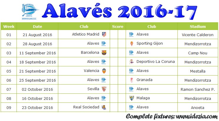 Download Jadwal Deportivo Alavés 2016-2017 File JPG - Download Kalender Lengkap Pertandingan Deportivo Alavés 2016-2017 File JPG - Download Deportivo Alavés Schedule Full Fixture File JPG - Schedule with Score Coloumn