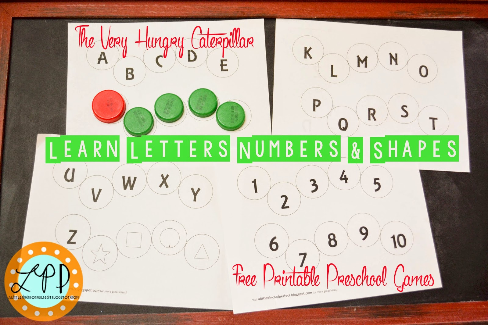The Very Hungry Caterpillar Preschool Games Letters Numbers Amp Shapes Free Printable