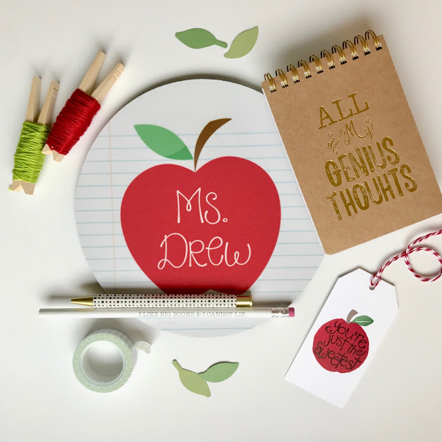 Apple themed Teacher Gift Idea - Teacher Appreciation - leroylime.com