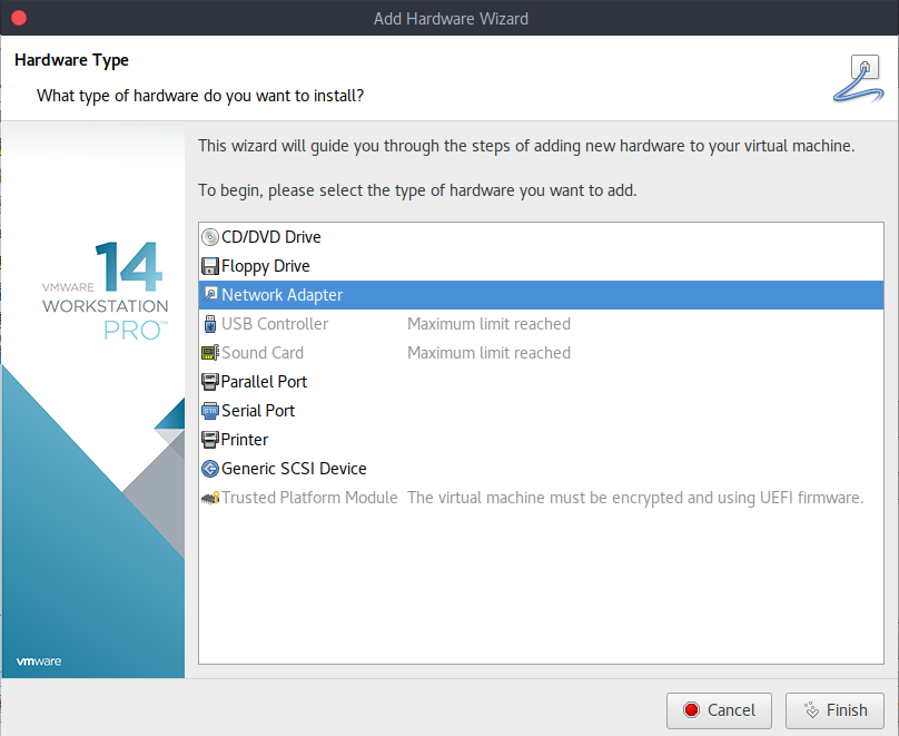 Vmware Workstation 15 Network Settings